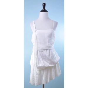 RYU white NWT embroidered bead dress MEDIUM